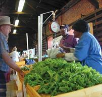 People Purchasing Produce at Farmers' Market