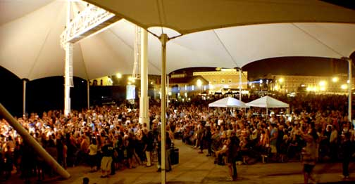 Crowd Gathered at Carrington Pavilion for a Concert