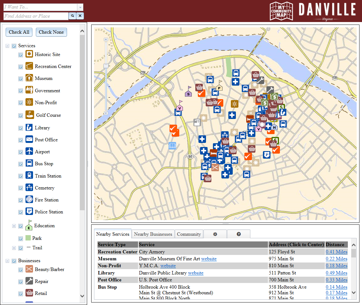 Maps  Danville VA  Official Website