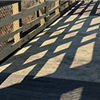 Repaired section of Riverwalk Trail trestle bridge