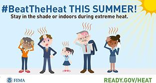 Beat the heat graphic