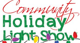 Community holiday light show logo