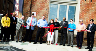 Brewed Awakening ribbon cutting