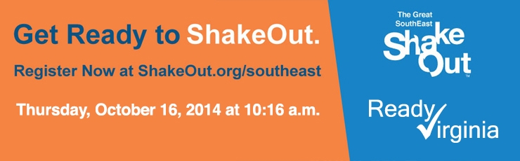Great SouthEast ShakeOut logo