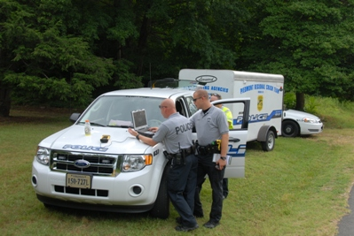 CSSU Officers Assist Pittsylvania County with a Crime Scene