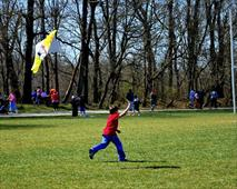 Child Flying a Kite at Anglers Park