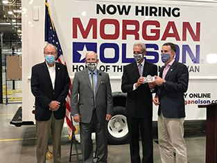 Governor Northam at Morgan Olson ceremony